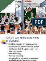 Ciri-Ciri Dan Kualiti Guru Yang Profesional