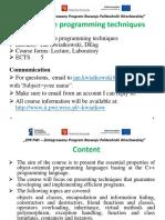 "Lecture 1 ""Effective Programm Technique""/ Politechnika wroclawska"