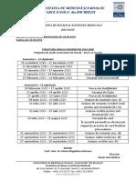 Structura an Universitar 2019 2020 FMAM