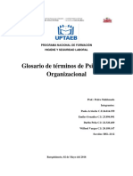 Glosario - Psicología HSL