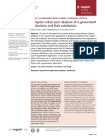 Malaysian Urban Poor Adoption of e Government Applications and Their Satisfaction
