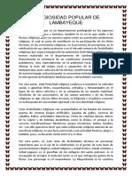 Religiosidad Popular de Lambayeque