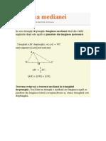 Teorema Medianei