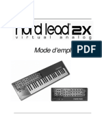 Nord Lead Rack 2x French User Manual v1 0x 478068