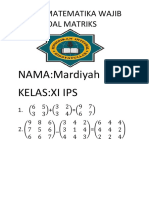 latihan membuat soal matriks