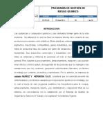 Programa de Gestion de Riesgo Quimico