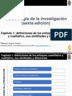Sampieri Cap. 1 - Definiciones de Los Enfoques