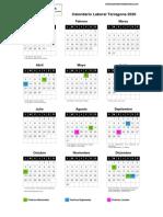 Calendario Laboral 2020 Tarragon