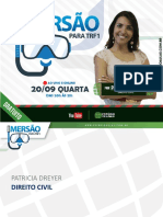 IMERSÃO PARA TRF1 EXER PatriciaDreyer DireitoCivil