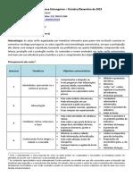 Planejamento de Aulas - Curso de Português Para Estrangeiros