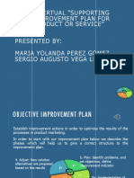"""Evidencia 9 - Sesión Virtual """"Supporting Your Improvement Plan for Your Product or Service"""""""