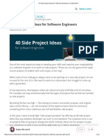 40 Side Project Ideas for Software Engineers _ Codementor
