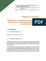 ESTUDIOS DE FACTIBILIDAD DEL ABASTECIMIETO ELÉCTRICO DE LA POBLACIÓN RURAL DISPERSA CON ENERGÍAS RENOVABLES