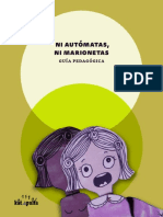 Ni autómatas, ni marionetas | Guia pedagógica | Prevención de embarazo infantil