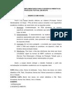 ORIENTAÇÕES COMPLEMENTARES PTG