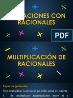 Operaciones Racio Multi y Divi