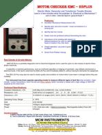 EMC 255 motor checker