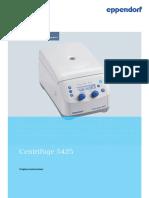 Operating Manual - Centrifuge 5425