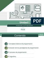 Unidad I Introducción a La Programación
