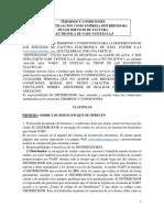 Terminos y Condiciones Para Distribuidores