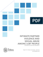 Intimate Partner Violence and Sexual Abuse Among LGBT People