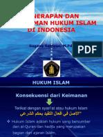 Pemahaman Dan Penerapan Hukum Islam