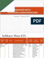 Indikator Mutu Kesling Agustus 2019