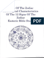 Signs of the Zodiac- Esoteric Bible Study Astrological Characteristics and ... by Health Research