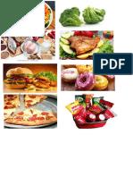 Alimentos Nutritivos y Chatarra