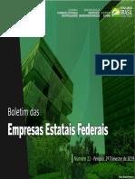 11ª Edição - Boletim Das Empresas Estatais Federais
