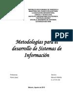 1. Metodologias Para El Desarrollo de Un Sistema de Informacion (SI)