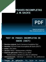 Test Frases Incompletas Sacks Ppt