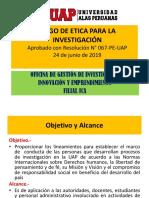 PPT CÓDIGO DE ETICA EN INVESTIGACIÓN