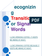 Recognizing Transition Signal Words