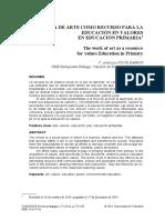 PDF La Obra de Arte Como Recurso Para La