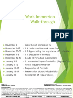 WORK IMMERSION WALK THROUGH