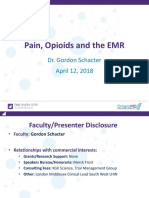 Pain, Opioids and the Emr
