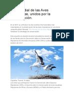 Día Mundial de las Aves Migratorias.docx