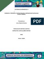 Evidencia 12.5 Propuesta Estructuración y definición de políticas de talento humano.docx