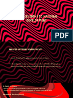Contributions to National Development