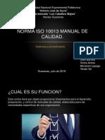 Norma ISO 10013 Manual de Calidad