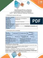 Guía de Actividades y Rúbrica de Evaluación - Paso 3 - Aplicar Legislación Tributaria Colombiana