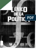 Baca Olamendi, Laura Et. Al. (Comps.). Léxico de La Política (Fragmentos). FLACSO-CONACYT-Fundación Heinrich Boll-FCE. México. 2000