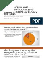 Encuesta Anonima Sobre Conocimientos y Actitudes de Medicos