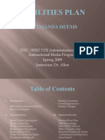 Facilities Plan - Amanda Deems