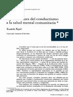 Aportaciones Del Conductismo a La Salud Mental Comunitaria