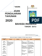 SOW ENGLISH YEAR 1 2020 by RozayusAcademy