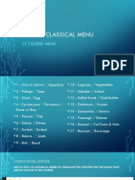 French Classical Menu powerpoint