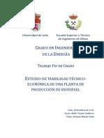 Estudio de viabilidad tecnicoeconomica de una planta de produccion de biodiesel
