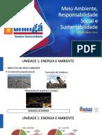 Meio Ambiente, Responsabilidade Social e Sustentabilidade - Slides II